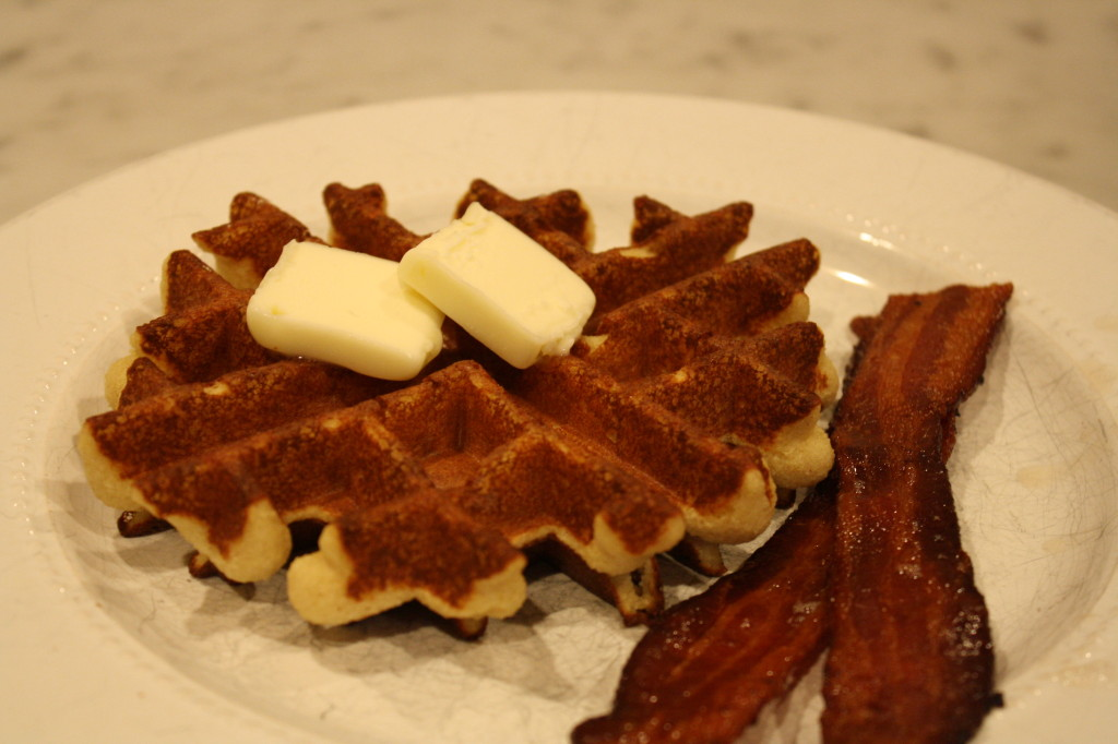 Gluten Free Waffles with Bacon