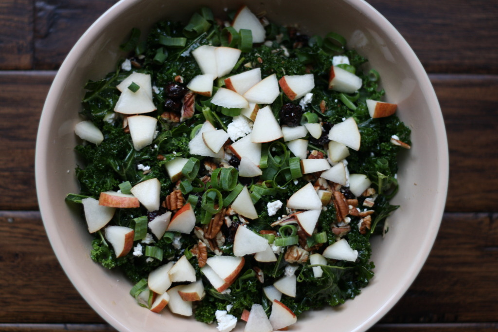Kale, Feta and Pecan Salad