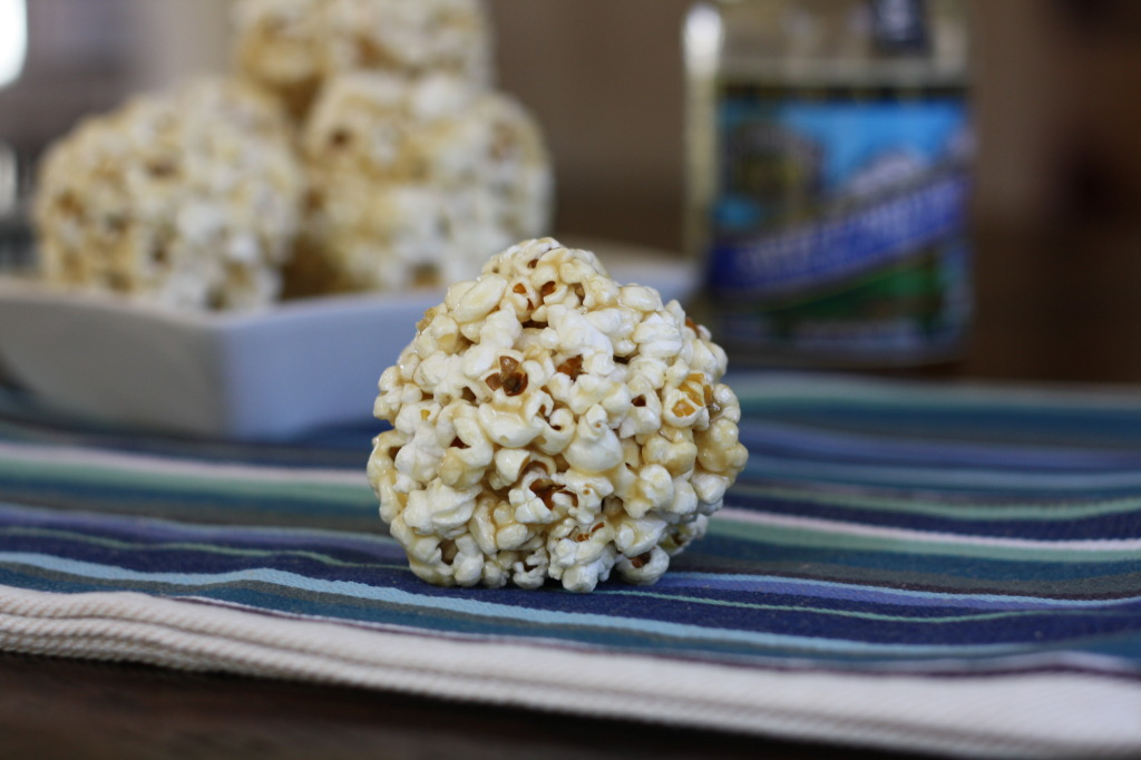 Maple Syrup Popcorn Balls