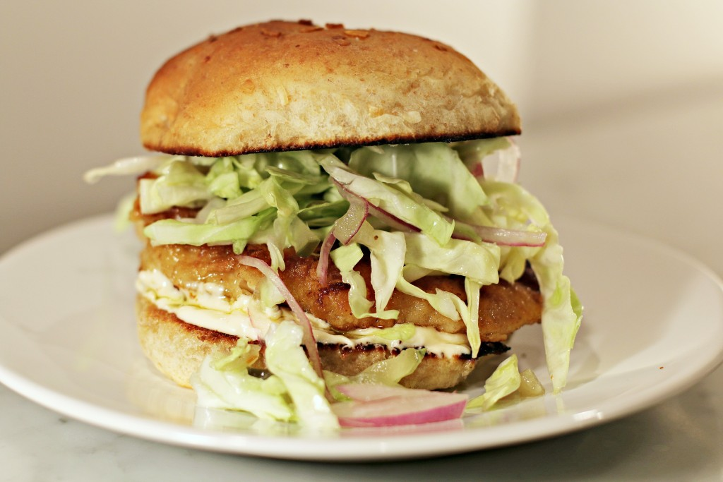 Chicken Sandwich with Slaw