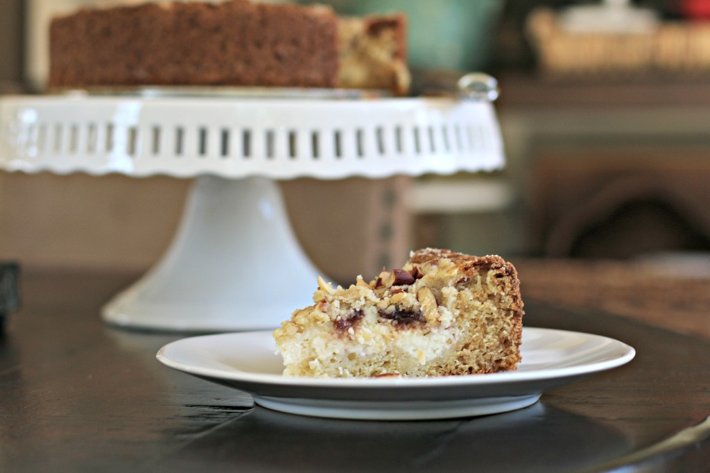 Raspberry Yogurt Cream Cheese Coffee Cake