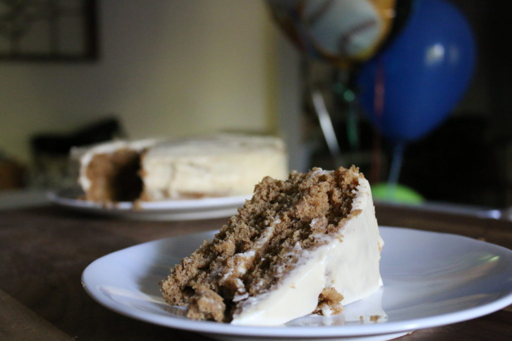 Iced Oatmeal Cookie Cake